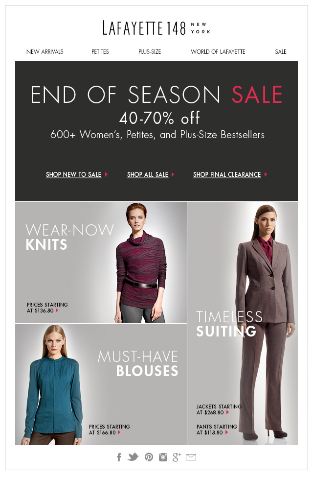 End of Season Sale: 600+ New Markdowns!
