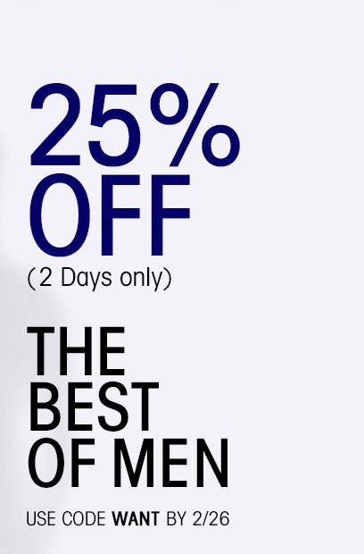 25% OFF (2 Days only)