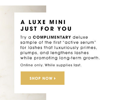 A LUXE MINI JUST FOR YOU Try a complimentary deluxe sample of the first active serum for lashes that luxuriously primes, plumps, and lengthens lashes while promoting long-term growth. Dior Diorshow Maximizer Lash Plumping Serum Mini deluxe sample. Online only. While supplies last. SHOP NOW