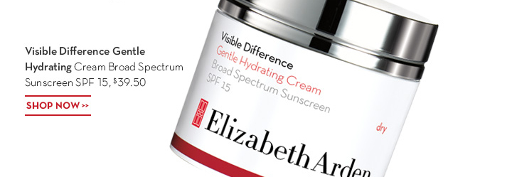 Visible Difference Gentle Hydrating Cream Broad Spectrum Sunscreen SPF 15, $39.50. SHOP NOW.