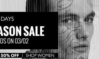 End of Season Sale. Shop Women.