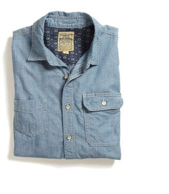 Randy Slim Chambray Workwear Mens Shirt