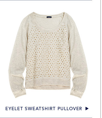 Eyelet Sweatshirt Pullover