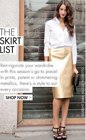 THE SKIRT LIST - THE KEY PIECE TO WEAR NOW