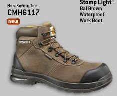 MEN'S 6-INCH STOMP LIGHT™ BAL BROWN WATERPROOF WORK BOOT/NON-SAFETY TOE