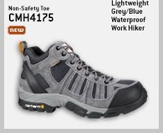 MEN'S LIGHTWEIGHT GREY/BLUE WATERPROOF WORK HIKER/NON-SAFETY TOE