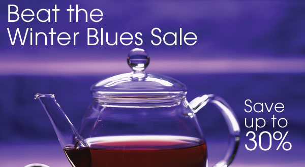 Beat the Winter Blues Sale. Save up to 30%.