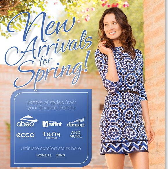 New Spring Arrivals from ABEO, Raffini, Dansko, ECCO, Taos and MORE! Shop thousands of styles in your favorite brands. Ultimate comfort starts here, the most comfortable place on earth! Shop now to find the best selection online and in stores at The Walking Company.