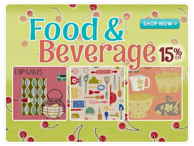 15% off All Food & Beverage Cotton Prints