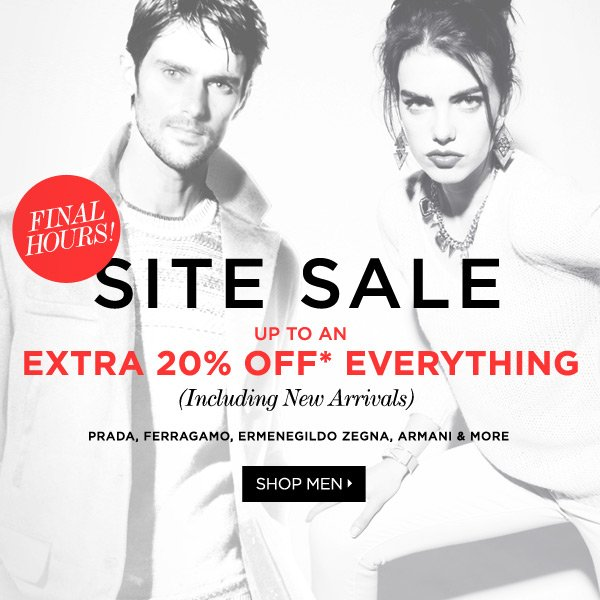 Site Sale Extended! Everything Up to An Extra 20%* Off