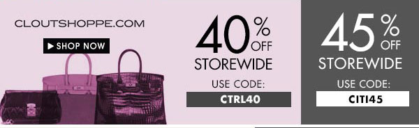 Get up to 45% off storewide at cloutshoppe.com