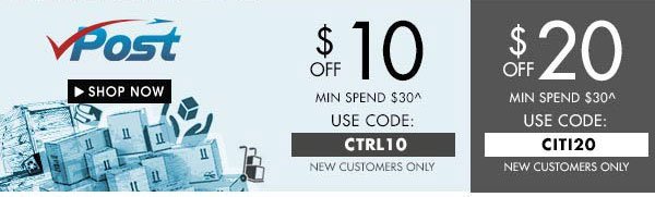 Get up to $20 off VPOST
