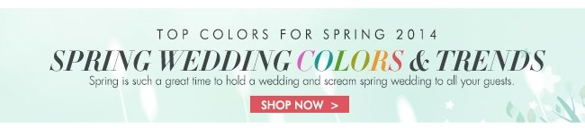 Top Wedding Colors for Spring 2014