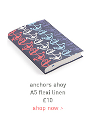 anchors ahoy a5 flexi linen
