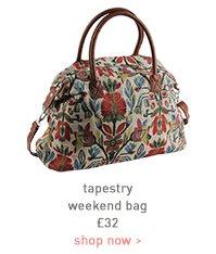 tapestry weekend bag