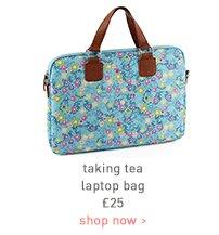 taking tea laptop bag