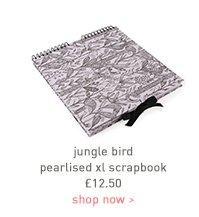 jungle bird pearlised xl scrapbook