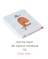 marine team a6 ziplock notebook