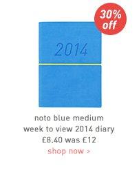 noto blue medium week to view 2014 diary