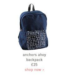 anchors ahoy backpack