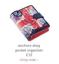 anchors ahoy pocket organiser