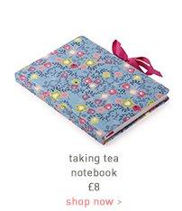 taking tea notebook