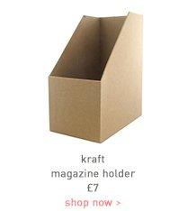 kraft magazine holder
