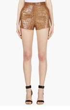 DSQUARED2 Camel Croc-Embossed Shorts for women
