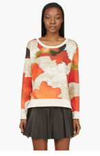 ACNE STUDIOS Red Wallpaper ANGLE PRINTED Fleece for women