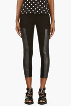 ACNE STUDIOS Black Leather-paneled Cropped Jeans for women