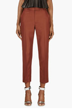 MARC JACOBS Brown Cropped Slim Trouserse for women