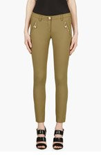 VERSUS Olive Safety Pin Trousers for women