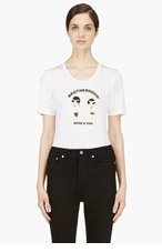 DSQUARED2 White Jersey Brotherhood T-Shirt for women