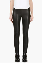 MACKAGE SSENSE EXCLUSIVE Black Stretch Leather Navi Leggings for women