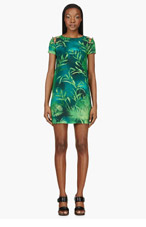 VERSUS Green Jungle Print Safety Pin Dress for women