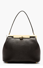 DOLCE & GABBANA Black Leather Sara Doctor's tote Bag for women