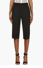 MSGM Black & Chartreuse Crepe Shorts for women