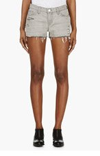 J BRAND Grey Distressed Cut Off Shorts for women