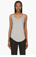 HELMUT LANG Heather grey Kinetic Jersey Two-Scoop Tank Top for women