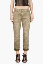 CURRENT/ELLIOTT Khaki Camo The Buddy Trousers for women