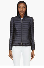 MONCLER Navy Quilted Down Aminta Jacket for women