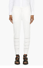 BAND OF OUTSIDERS White Cut-Out Lounge Pants for women