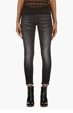 ACNE STUDIOS Black Cropped Contrast Skinny Jeans for women