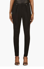 HELMUT LANG Black Low-Rise Ark Suiting Pants for women