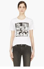 DSQUARED2 White Twin Babay Pic T-Shirt for women