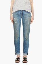 RAG & BONE Blue Distressed The Dre Jeans for women
