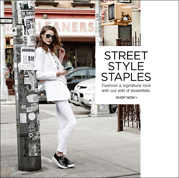 Fashion a signature look with our edit of street style essentials. Shop Now!