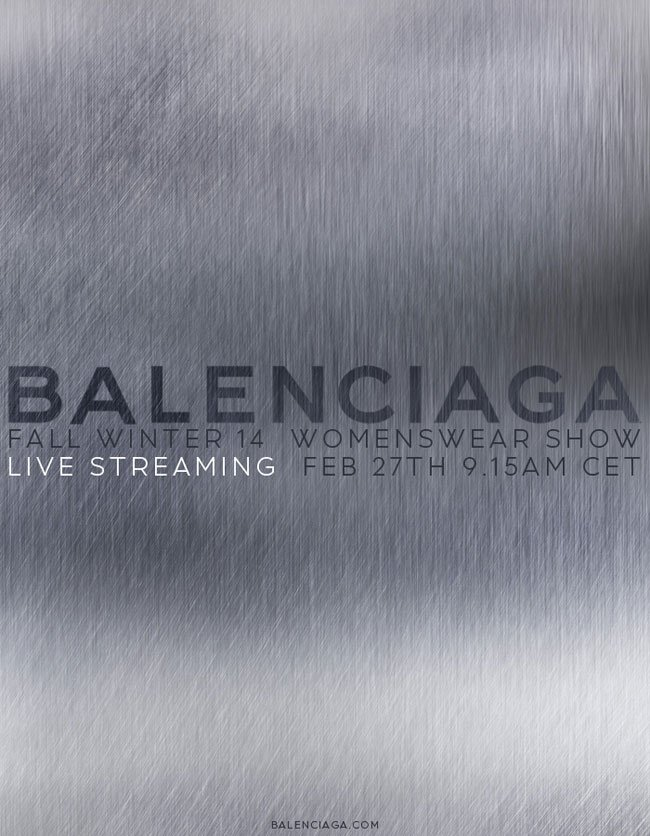 Balenciaga Live Fashion Show Thursday February 27th