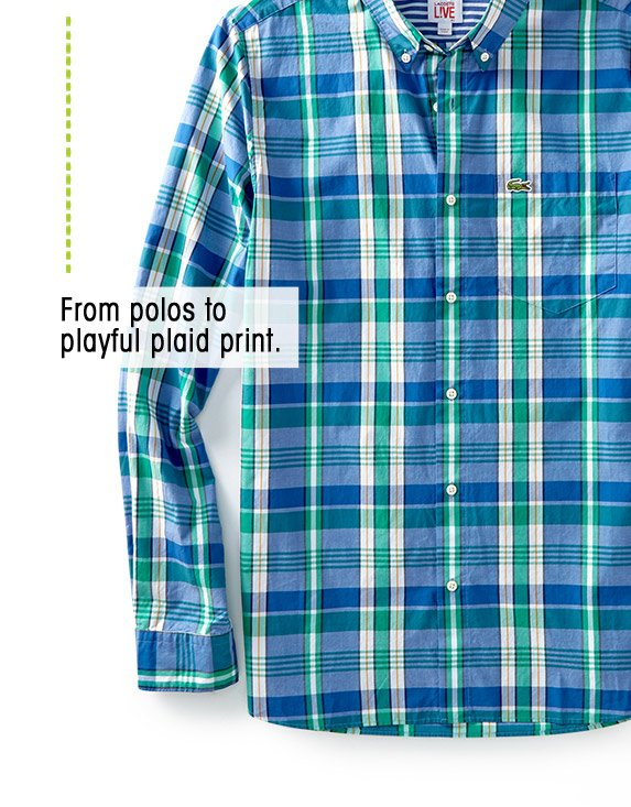 From polos to playful plaid print.