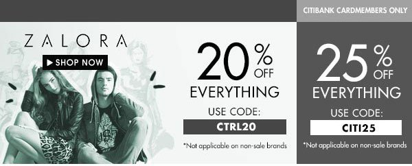 Get up to 25% off Zalora!